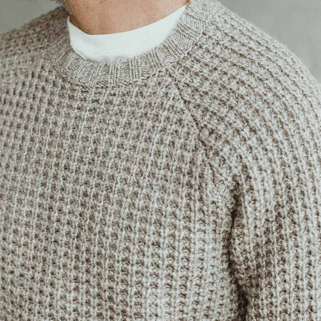 フィッシャーマンズセーター<br>The Fisherman Sweater in Natural Waffle