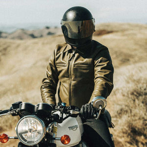 モトジャケット<br>The Moto Jacket in Loden Steerhide