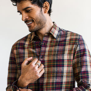 カリフォルニア<br>The California in Vintage Navy Madras