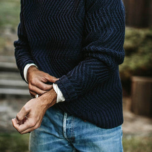 ウェーブセーター<br>The Wave Sweater in Navy