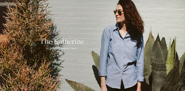 The Katherine in Azure Cotton & Linen