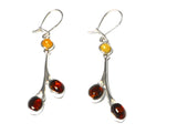 Baltic AMBER Sterling Silver Gemstone Earrings 925