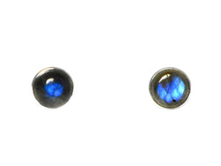 Labradorite sterling silver 925 stud earrings