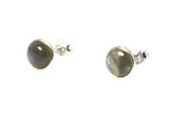 LABRADORITE Round Shaped - 8 mm - Sterling Silver Ear Studs 925 - Gift Boxed (LS0411151)