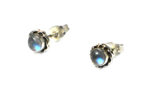 MOONSTONE Sterling Silver 925 Gemstone STUD / Earrings