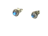 MOONSTONE Sterling Silver Gemstone STUD / Earrings 925 - Gift Boxed