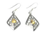 CITRINE Sterling Silver Gemstone Earrings 925 - (CTER2906171)