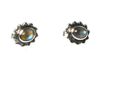 LABRADORITE Oval Shaped Sterling Silver Ear Studs 925 - (LBST3011163)