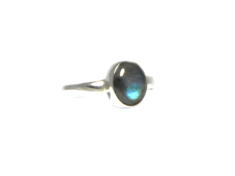 LABRADORITE Sterling Silver 925 Gemstone Ring