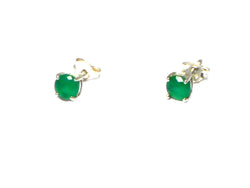 EMERALD Sterling Silver 925 STUDS / Earrings - 5 mm