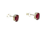 Oval  RUBY Sterling Silver 925 Gemstone Stud Earrings - 5 x 7 mm