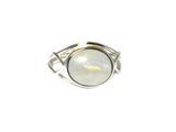 MOONSTONE Sterling Silver 925 Gemstone Ring - Size N
