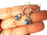 LABRADORITE Sterling Silver Gemstone Earrings 925