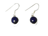 Oval Blue LAPIS LAZULI Sterling Silver Gemstone Earrings 925