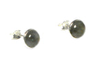 LABRADORITE Round Shaped Sterling Silver Stud Earrings - 8 mm