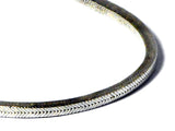 45 cm Sterling Silver 925 Square Snake Chain Necklace - 4 mm - (SNL3007155)