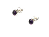 AMETHYST Round Sterling Silver Gemstone Ear Studs 925 - 5 mm - Gift Boxed