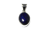 Afghanistani LAPIS LAZULI Sterling Silver 925 Oval Gemstone Pendant