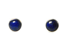LAPIS LAZULI Sterling Silver Earrings / STUDS 925 - 8 mm