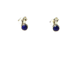 LAPIS LAZULI Sterling Silver 925 Gemstone Earrings / Studs - 4 mm