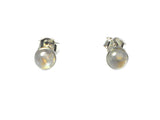 MOONSTONE Sterling Silver STUD / Earrings 925 - 5 mm (MST1905161)