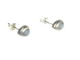 MOONSTONE Pear Shaped Sterling Silver Gemstone Ear Studs 925