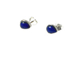 LAPIS LAZULI Pear shaped Sterling Silver Gemstone Earrings / Studs 925 - Gift Boxed (LLST2212161)