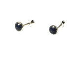 LAPIS LAZULI Round Sterling Silver Earrings / Studs 925 - 5 mm