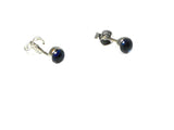 Round Blue KYANITE Sterling Silver 925 Stud Earrings - 4 mm