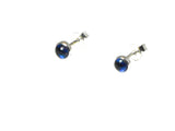 Round KYANITE Sterling Silver 925 Earrings / STUDS - 4 mm
