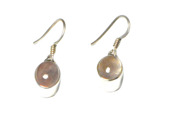 Oval ROSE QUARTZ Sterling Silver 925 Gemstone Earrings