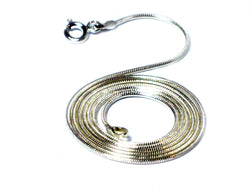 "18"" (46 cm) Sterling Silver Snake Necklace - 1.0 mm"