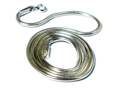 "22"" (56 cm) Sterling Silver 925 Snake Necklace - 2 mm"