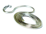 "18""(46 cm) Sterling Silver 925 Snake Necklace - 2 mm"