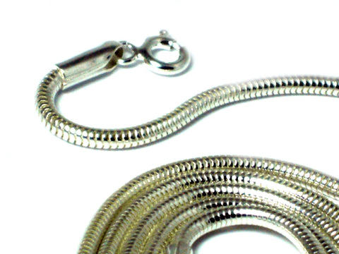 "16""(41 cm) Sterling Silver 925 Snake Necklace - 2 mm"