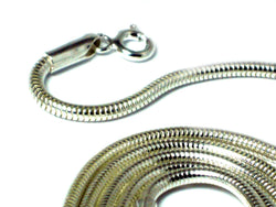"20""(51 cm) Sterling Silver 925 Snake Necklace - 2 mm"