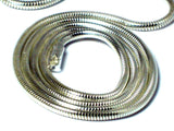 "24"" (60 cm) Sterling Silver 925 Snake Necklace - 2 mm"