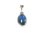 KYANITE Sterling Silver 925 Oval Gemstone Pendant - Gift Boxed (KYPT1404172)