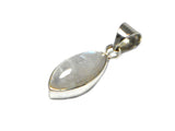Marquise MOONSTONE Sterling Silver 925 Gemstone Pendant