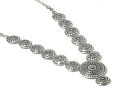 Sterling Silver 925  Tribal Design Necklace -  UK Hallmarked