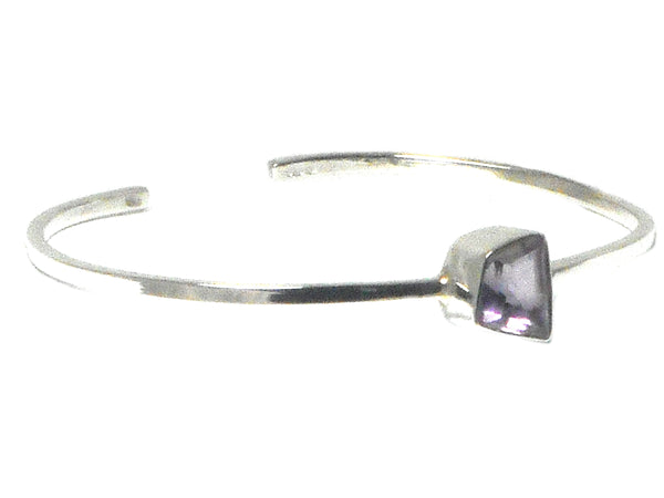 AMETHYST Sterling Silver BANGLE - UK Hallmarked