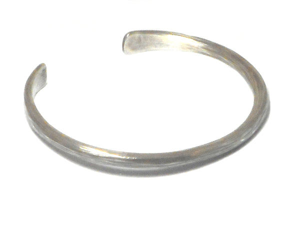 Adjustable  Unisex  925 Sterling Silver Bangle - UK Hallmark