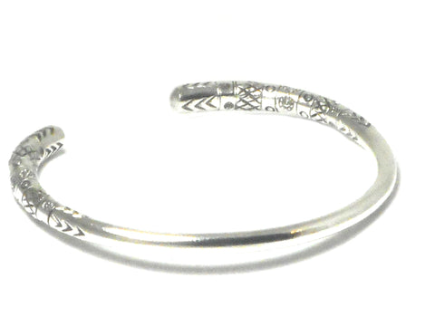 Unisex 925 Sterling Silver Bangle - UK Hallmark