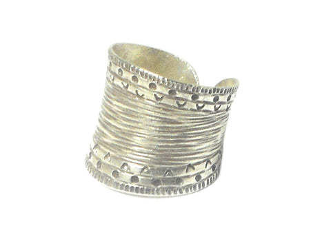 Handmade Adjustable 925 Sterling Silver Ring - Size S