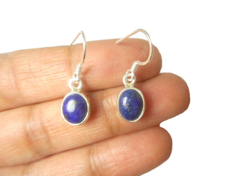 LAPIS LAZULI Sterling Silver Gemstone Earrings 925