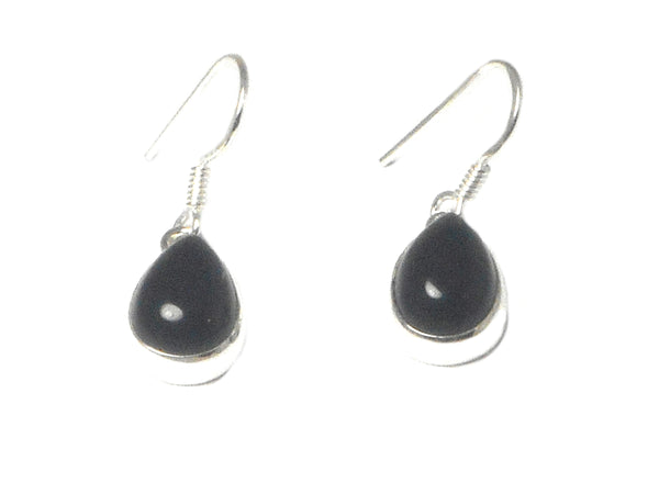 Black ONYX Sterling Silver 925 Gemstone Earrings