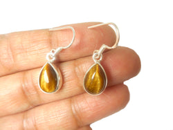 TIGERS EYE Sterling Silver Gemstone Earrings 925
