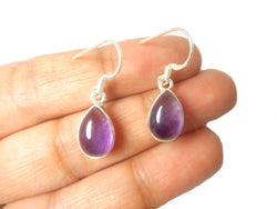 AMETHYST Sterling Silver Gemstone Earrings 925