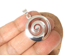 Sterling Silver 925 Spiral Pendant - 22 mm diameter