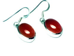 CARNELIAN Sterling Silver 925 Oval Gemstone Earrings